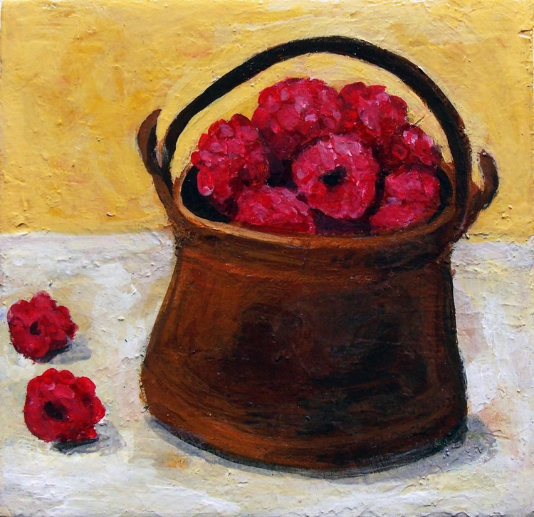 Old Pot with Strawberries - Image 0