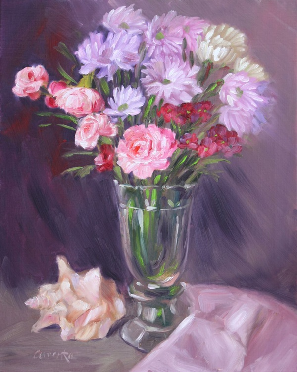 Flowers with Seashell - Image 0