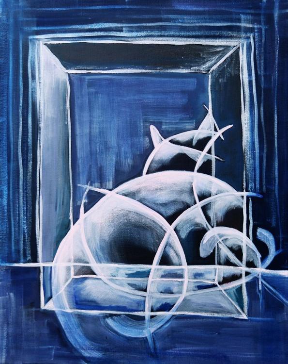 Cubist Cat #2 - Image 0