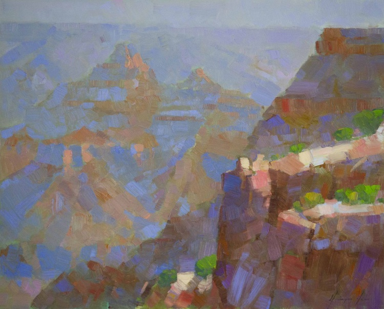 Grand Canyon Original Oil painting on canvas Painting in handmade Signed One of a Kind - Image 0