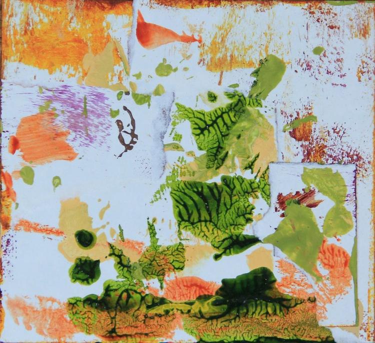 Cedar, Collage Painting - Image 0