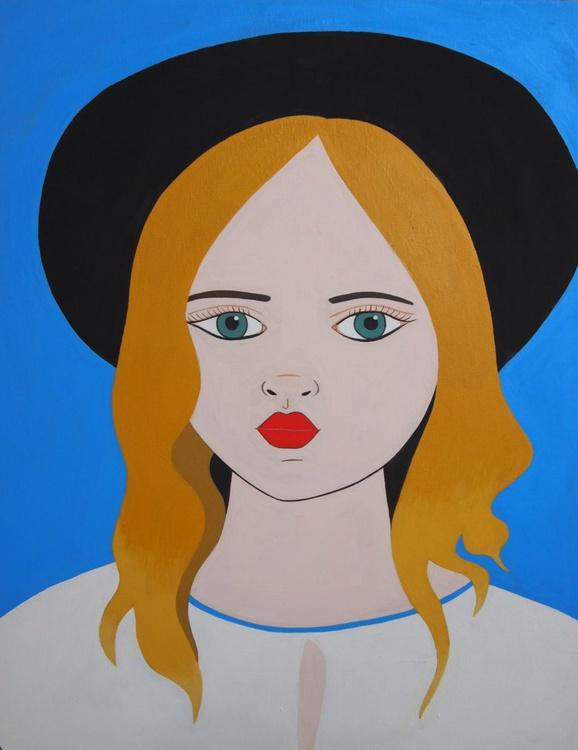 Girl in a Black Hat - Image 0