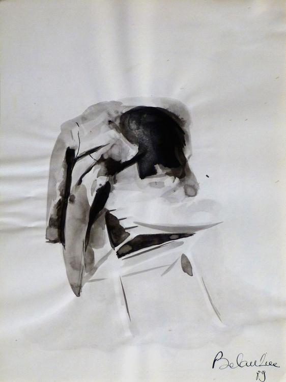 Still Life: Chair, 24x32 cm - Image 0