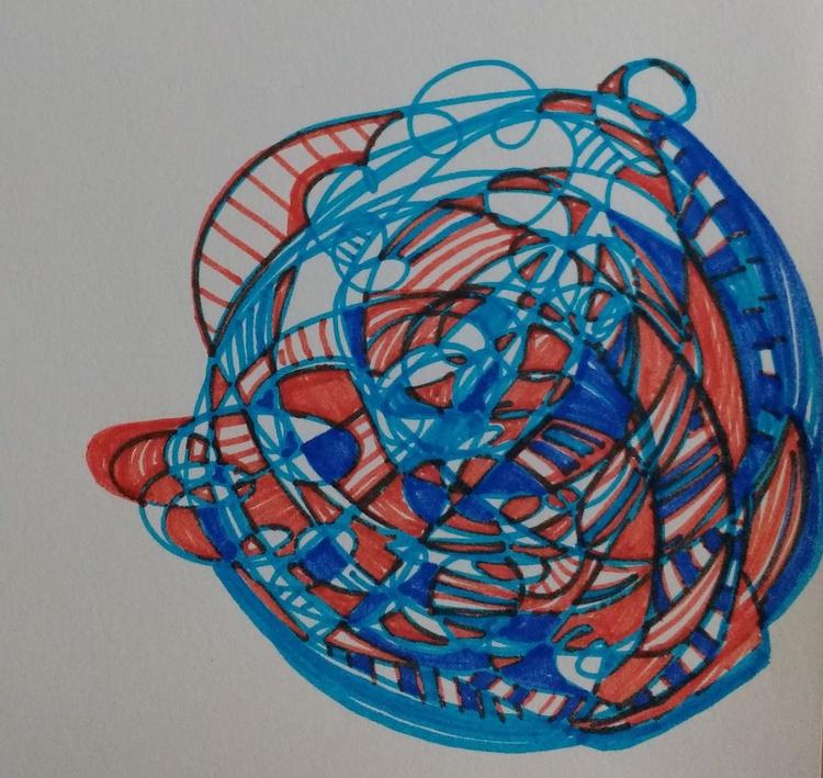 Summer Energy Ball-Ball Drawing (13cm x 14cm) - Image 0