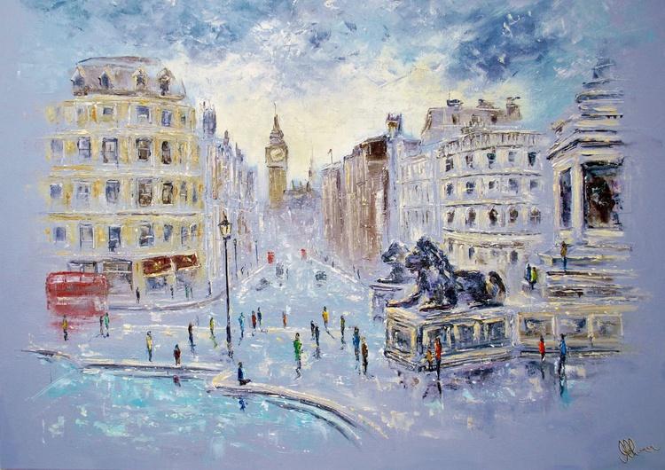After The Rain at Tragfalgar Square - A Huge  101.6cm × 76.2cm! - Image 0