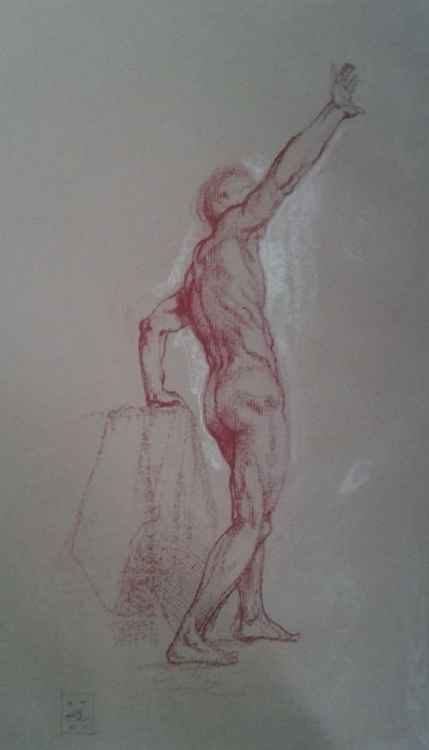 Male Figure reaching up -