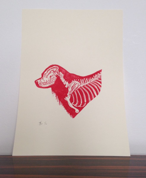 blood dog skeleton - Image 0