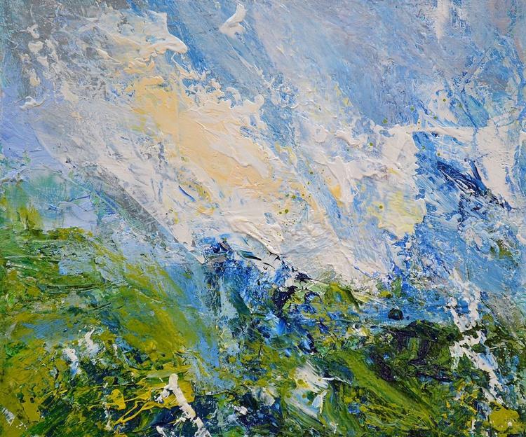 Grassy Hillside, Summer Sky - Image 0