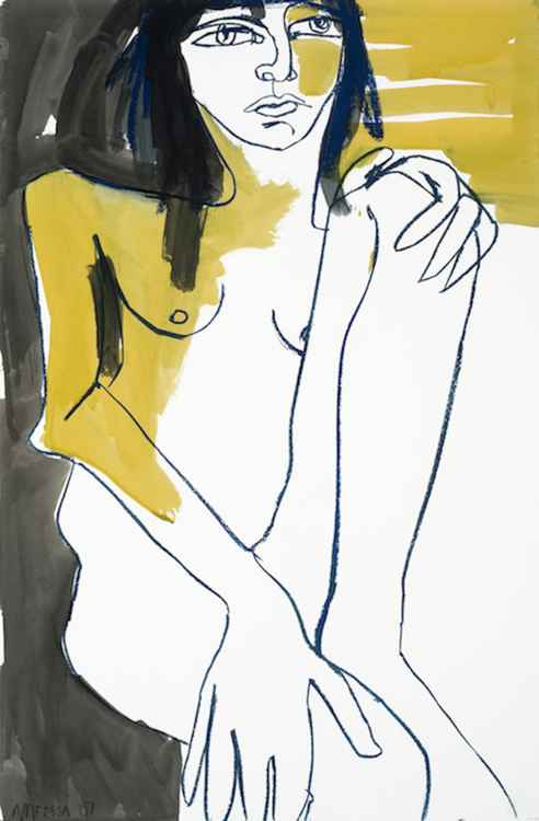 Woman in Yellow and Blue