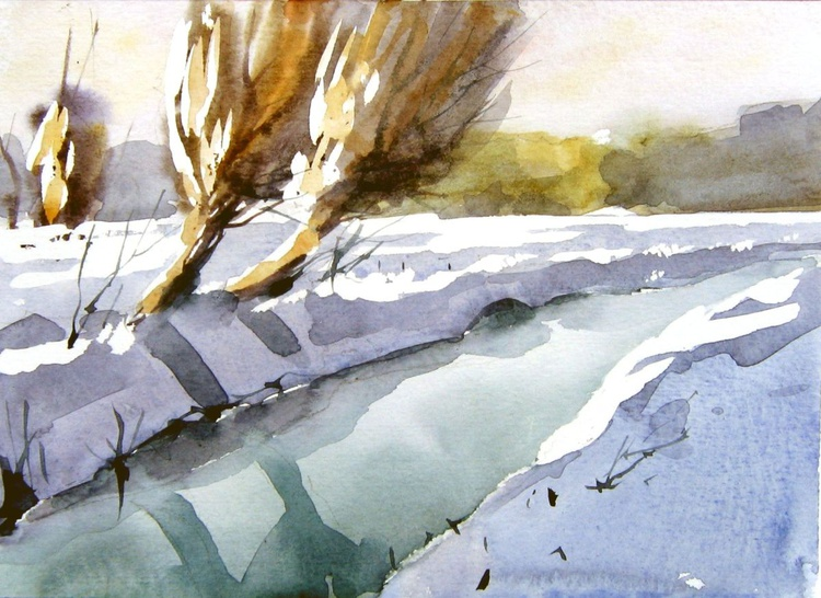snowscape with spring - Image 0