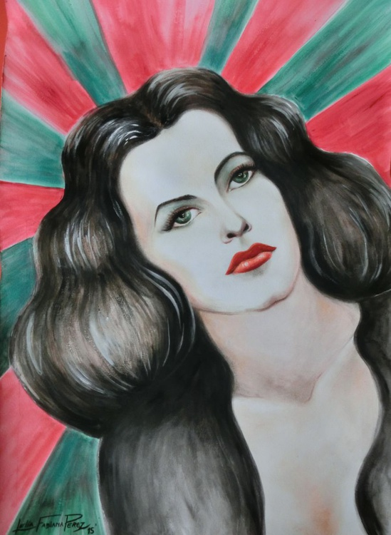 Hedy Lamarr Portrait - Image 0