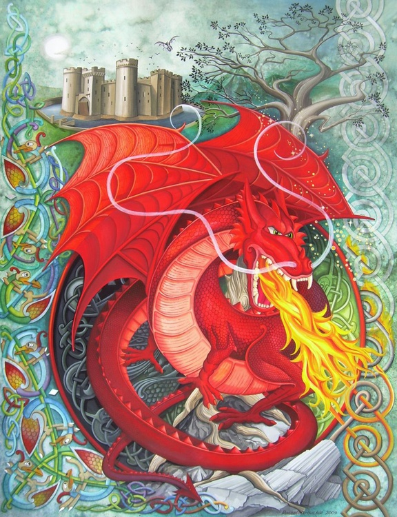 Red dragon - Image 0
