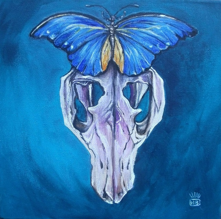 Moth Birdskull in Blue - Image 0