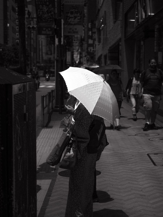 Woman with umbrella, from the Japan Notebook. - Image 0