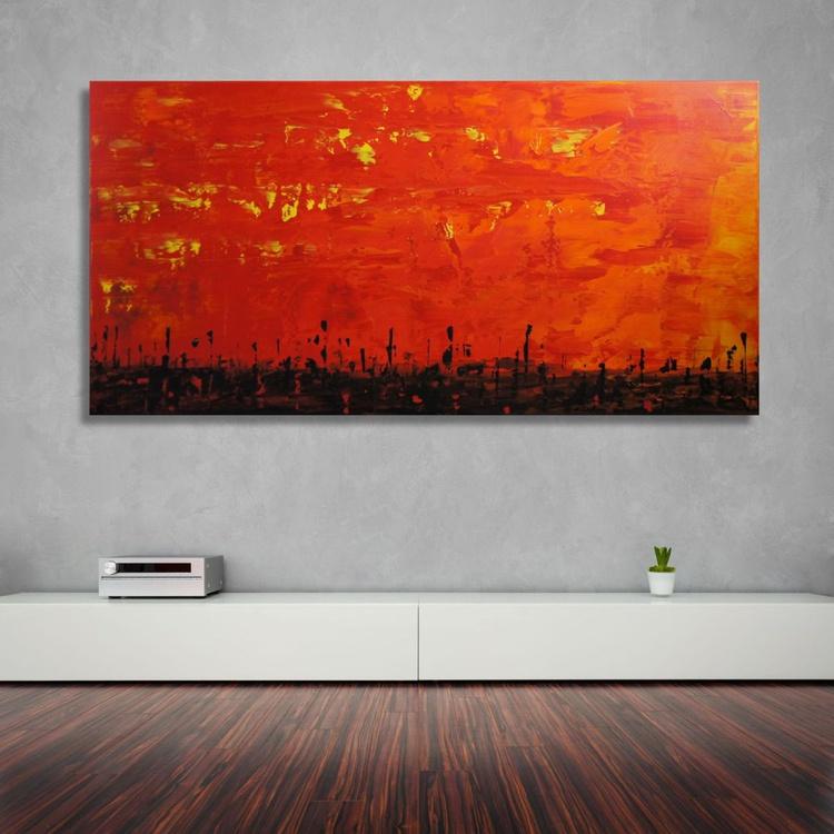 Lava Sky   (70 x 140 cm) - Image 0