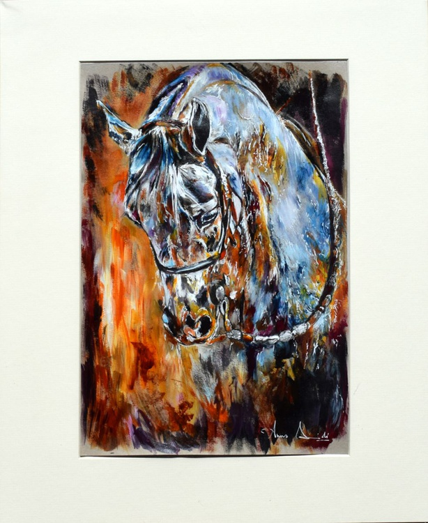 Rainbow / Original Horse Equine Art  Modern Contemporary Wall Art Home Decor by Anna Sidi - Image 0