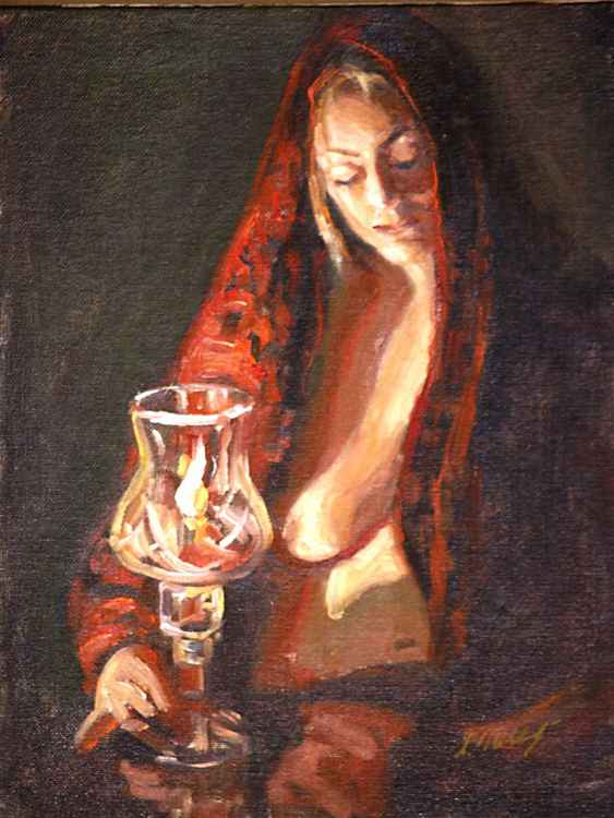 In the Candle Light-study