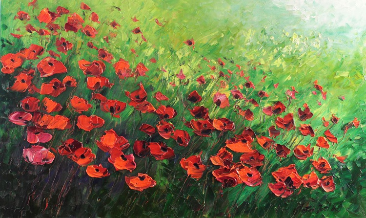 Meadow of poppies - Image 0