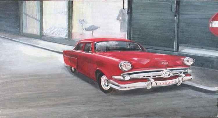 La voiture de l'oncle Pol un soir d'hiver    (Cat N° 5078)