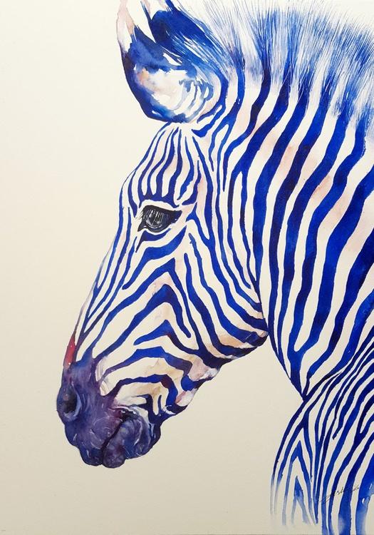 Blazing Blue Zebra - Image 0