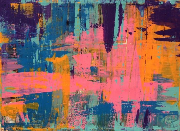 """SILKSCREEN""  1 - 44x60 Large Art Abstract Painting Modern - Image 0"