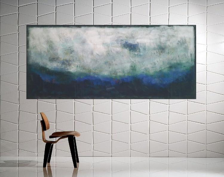 "53x 23,5""( 135x60cm), Itaca Island Landscape,  lansdcape painting , canvas art, home painting - Image 0"