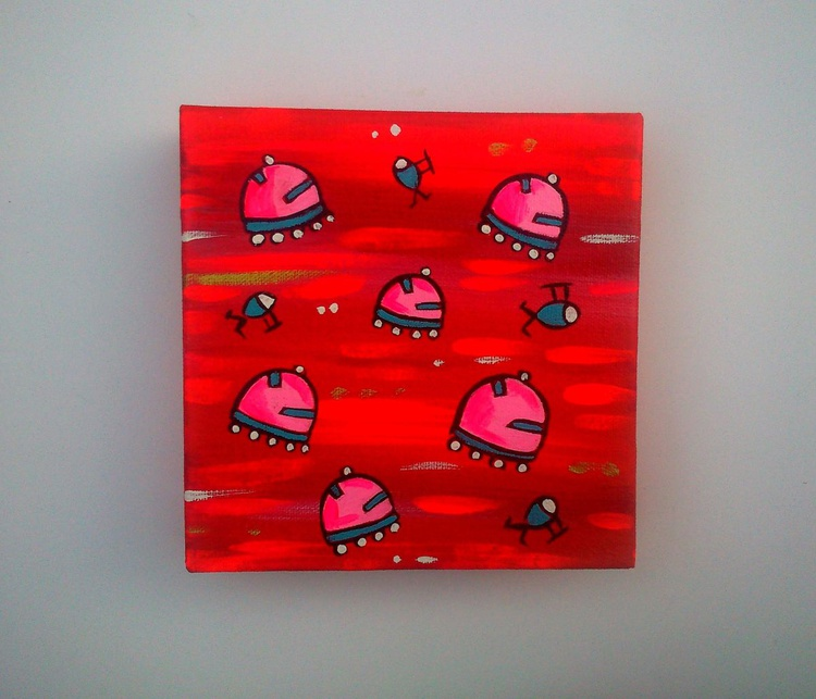 Red and Pink UFOs - Image 0