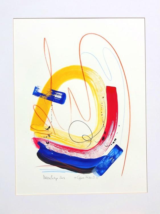 Cyber-Man 3 Gouache auf Fabriano-Büttenkarton 56 x 75 cm - Image 0