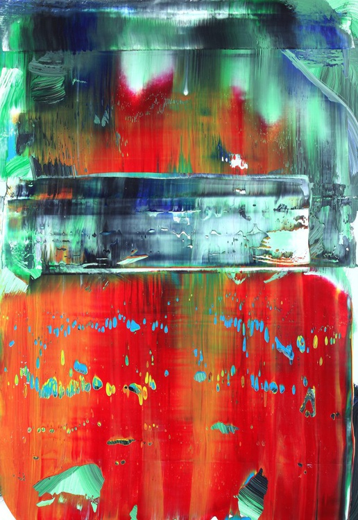 Abstract red & green - Image 0
