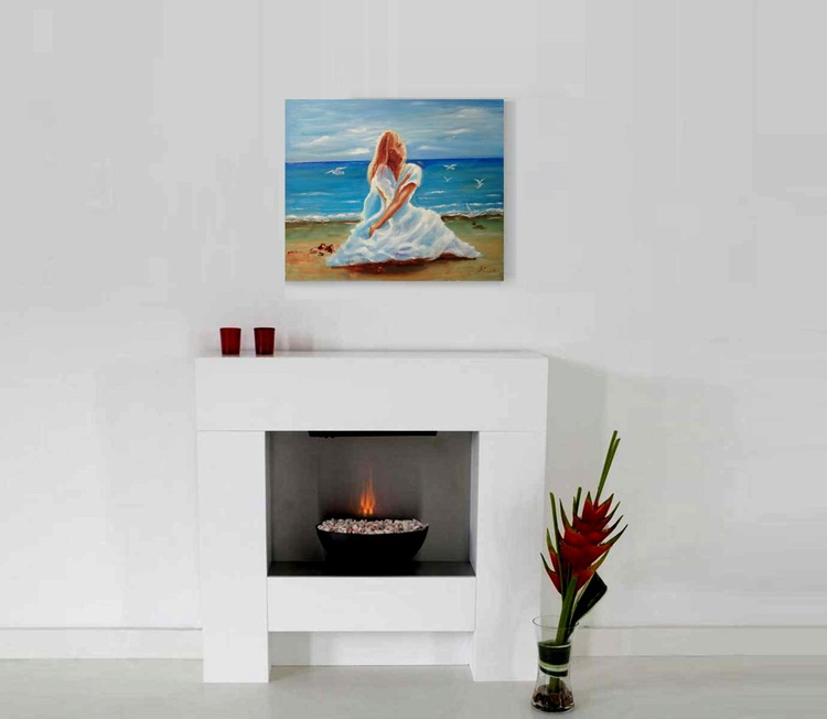 The Girl on the Beach - Image 0