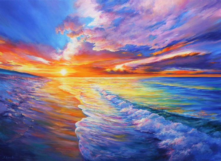 The melody of the sea - Large Painting - Image 0
