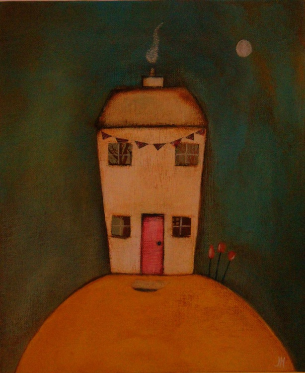 The Lonely House.., (with bunting) - Image 0