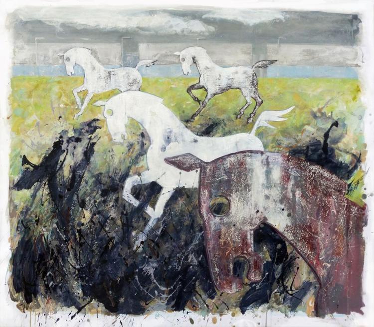England -  white horse 2 - Image 0