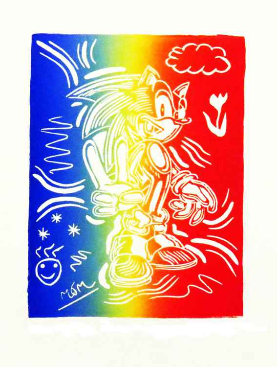 'Sonic the Hedgehog says Peace' -