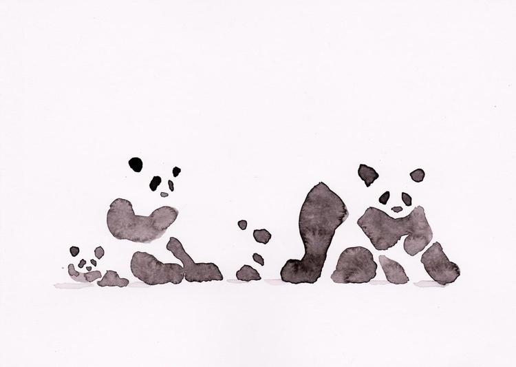 Three Pandas and a cub 1521K - Image 0