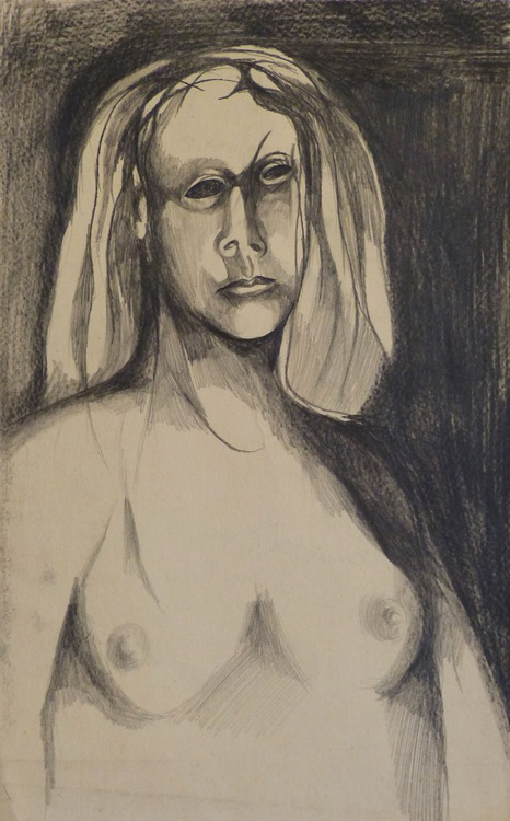 Pencil Portrait 1, 25x32 cm - Image 0