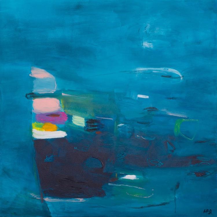 Fishing 03 (80x80 cm, Acrylic Abstract, Ready to Hang) - Image 0
