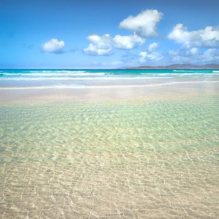 Timeless - Square minimalist deserted beach canvas - Image 0