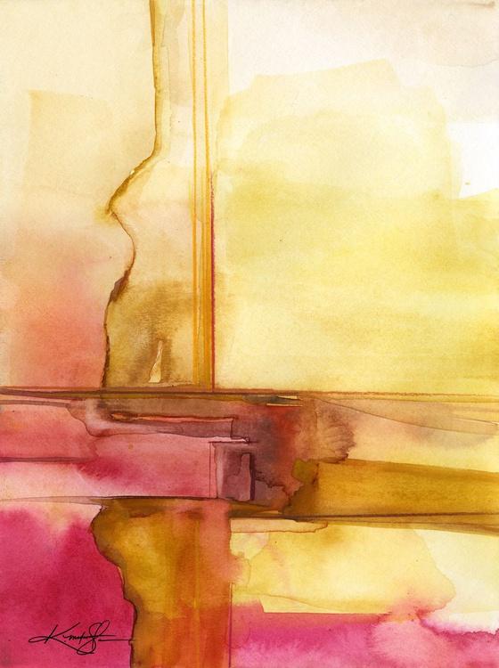 Sacred Balance 1 - Abstract Watercolor Painting - Image 0
