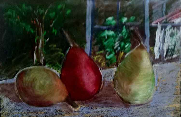 Three pears. The sketch