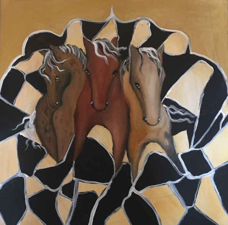 Wild chess Horses