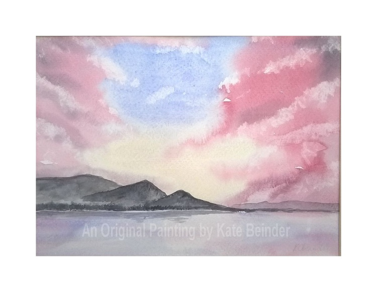 Red Sky Over Bassenthwaite Lake,  - Mounted & Framed - Image 0