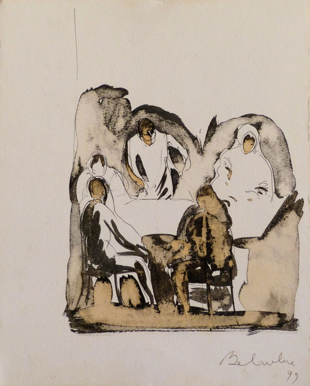 People around the table, 24x32 cm - Image 0