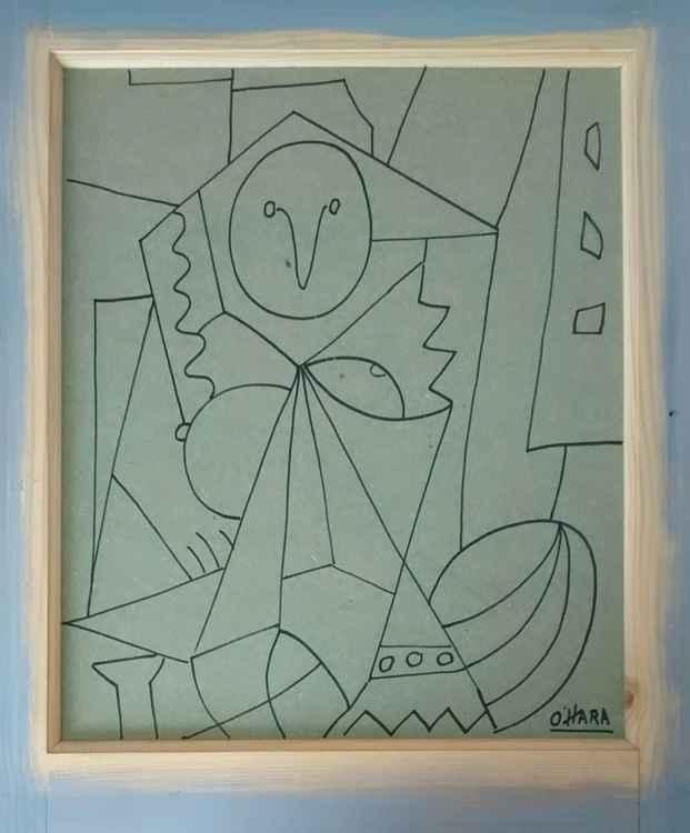 Femme d' Algier (after Picasso)