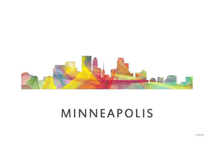 Minneapolis Minnesota Skyline WB1 -
