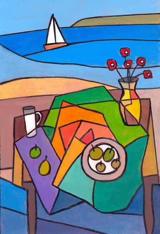Seaside window table.