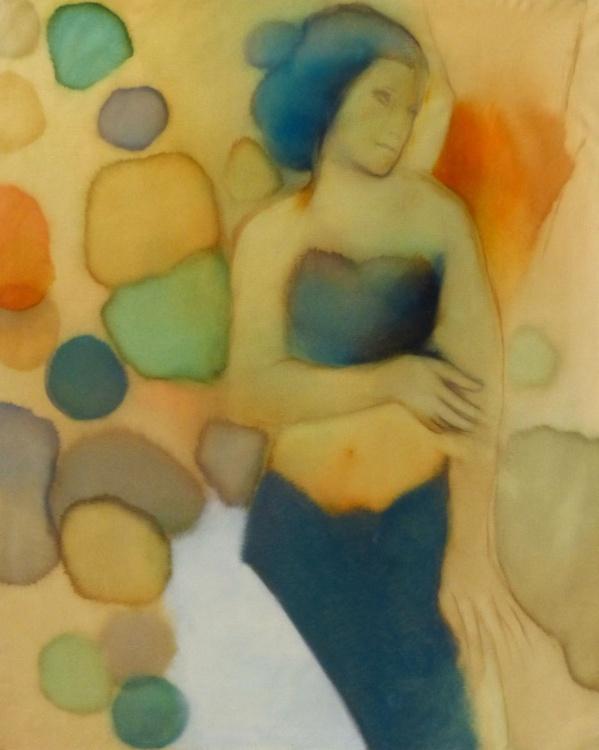 MERMAID, oil on canvas 100x81 cm - Image 0