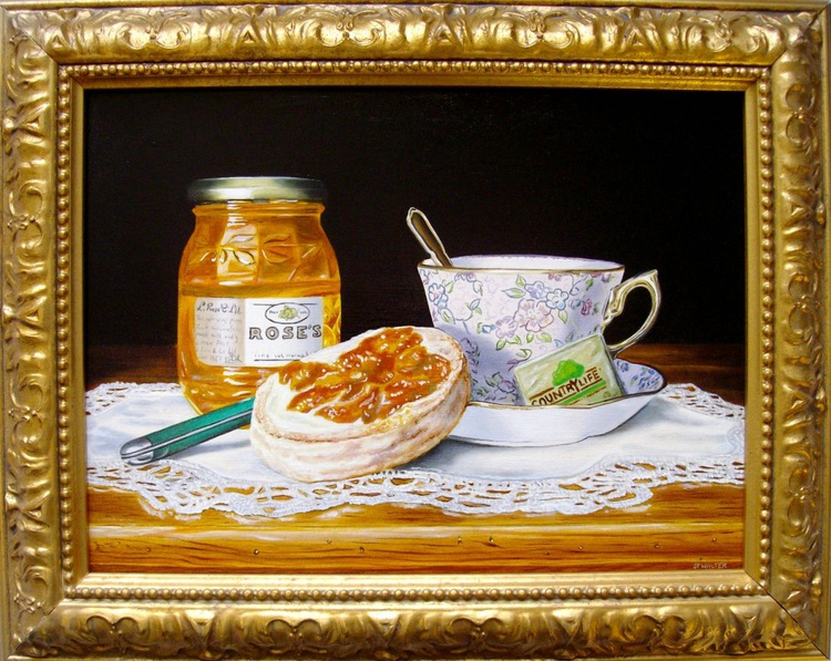 Breakfast with home-made muffin - Image 0