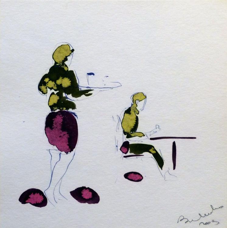 Waitress, 25x25 cm - Image 0