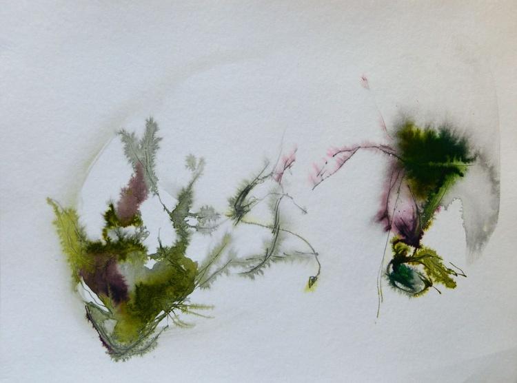 Minimalist Abstract Plants, Ink on Paper  24x32 cm - Image 0